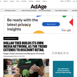 Dollar Tree Builds Its Own Media Network, as the Trend Extends to Discount Retail